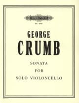 Sonata For Solo Violoncello George Crumb Partition laflutedepan.com