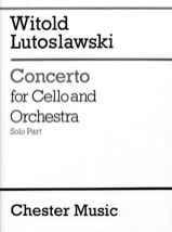 Witold Lutoslawski - Concerto for cello and orchestra - Solo - Sheet Music - di-arezzo.com