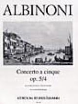 Concerto a cinque op. 5/4 Tomaso Albinoni Partition laflutedepan.com