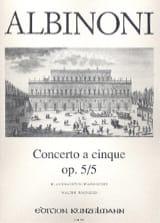 Concerto a cinque op. 5/5 - Violine Klavier laflutedepan.com