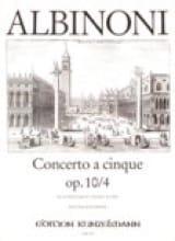 Tomaso Albinoni - Concerto a cinque op. 10/4 - Partition - di-arezzo.fr