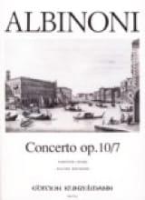 Tomaso Albinoni - Concerto op. 10/7 - Partition - di-arezzo.fr