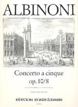 Tomaso Albinoni - Concerto a cinque op. 10/8 - Partition - di-arezzo.fr
