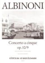 Tomaso Albinoni - Concerto a cinque op. 10/9 - Partition - di-arezzo.fr