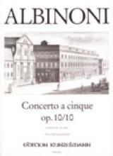 Tomaso Albinoni - Concerto a cinque op. 10/10 - Sheet Music - di-arezzo.co.uk