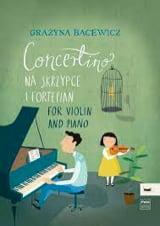 Concertino - Grazyna Bacewicz - Partition - Violon - laflutedepan.com