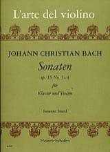 Sonaten op. 15 n° 3 et 4 Johann Christian Bach Partition laflutedepan