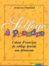 Solfège à Prendre - Jean-Luc Daumard - Partition - laflutedepan.com