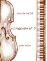 Solfeggietto n° 3 op. 38 Claude Ballif Partition laflutedepan.com