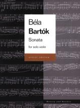 Béla Bartok - Sonata for Solo Violin (Urtext) - Partition - di-arezzo.fr