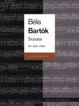 Sonata for Solo Violin Urtext Béla Bartok Partition laflutedepan.com