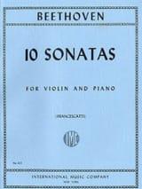 10 Sonates Francescatti - Violon et piano BEETHOVEN laflutedepan.com