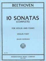 10 Sonates (Oistrach) - Violon et piano - laflutedepan.com