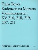 Kadenzen zu Mozarts Violinkonzerten KV 216, 218, 219, 207, 211 laflutedepan.com