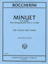 Minuet in A maj. - Violin BOCCHERINI Partition Violon - laflutedepan