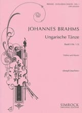 BRAHMS - Ungarische Tänze, Heft 1 n ° 1 - 5 - Sheet Music - di-arezzo.co.uk