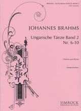 Ungarische Tänze, Heft 2 (n° 6 - 10) BRAHMS Partition laflutedepan.com