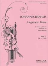 Ungarische Tänze, Heft 4 n° 17 - 21 BRAHMS Partition laflutedepan.com
