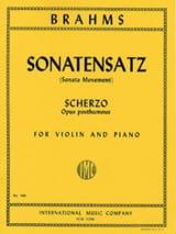 Sonatensatz, Scherzo op. posth. BRAHMS Partition laflutedepan.com