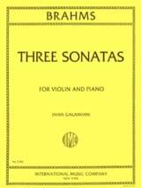 3 Sonatas for violin and piano BRAHMS Partition laflutedepan.com