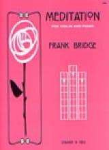 Frank Bridge - Meditation - Violin - Partition - di-arezzo.fr
