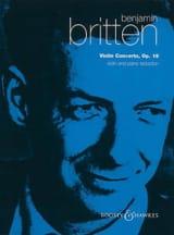 Concerto Violon op. 15 Benjamin Britten Partition laflutedepan.com