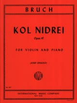 Kol Nidrei op. 47 Max Bruch Partition Violon - laflutedepan.com