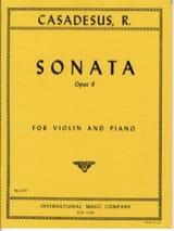 Robert Casadesus - Sonate op. 9 - Partition - di-arezzo.fr
