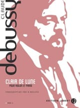 DEBUSSY - Clair de lune - Violon piano - Partition - di-arezzo.fr