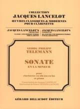 Georg Philipp Telemann - Sonate en la Mineur - Partition - di-arezzo.fr