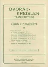 Dvorak Antonin / Kreisler Fritz - Negro spiritual melody - Partition - di-arezzo.fr