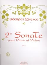 Sonate Violon n° 2 op. 6 Georges Enesco Partition laflutedepan.com