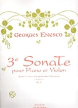Sonate n° 3 op. 25 ENESCO Partition Violon - laflutedepan