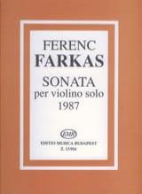 Sonata Ferenc Farkas Partition Violon - laflutedepan.com