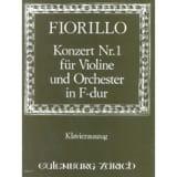 Concerto Violon n° 1 fa majeur Frederigo Fiorillo laflutedepan.com