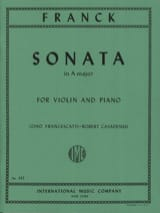 Sonata in A major - Violin FRANCK Partition Violon - laflutedepan
