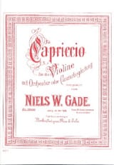 Capriccio Niels Wilhelm Gade Partition Violon - laflutedepan.com