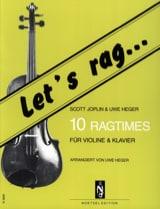 Let's Rag - 10 Ragtimes - Violin laflutedepan.com