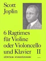 6 Ragtimes, Volume 2 Scott Joplin Partition Violon - laflutedepan.com