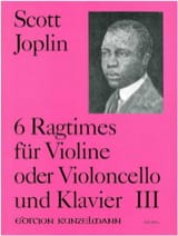 Scott Joplin - 6 Ragtimes, Volume 3 - Partition - di-arezzo.fr