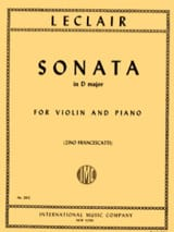 Jean-Marie Leclair - Sonata in D major - Sheet Music - di-arezzo.co.uk