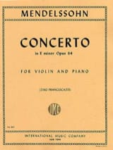 MENDELSSOHN - Violin Concerto op. 64 E minor - Sheet Music - di-arezzo.co.uk