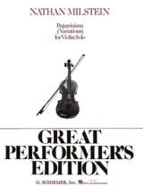 Paganiniana Nathan Milstein Partition Violon - laflutedepan.com