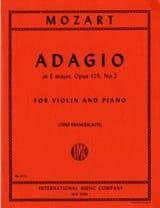 Adagio mi majeur, op. 125 n° 2, KV 261 MOZART laflutedepan.com