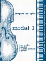 Modal 1 Jacques Murgier Partition Violon - laflutedepan.com