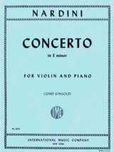 Concerto Violon mi mineur Gingold Pietro Nardini laflutedepan.com