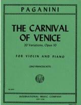 Le Carnaval de Venise - Violon et Piano laflutedepan.com