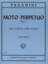 Niccolò Paganini - Moto Perpetuo op. 11 Kreisler - Sheet Music - di-arezzo.co.uk