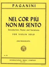 Niccolò Paganini - Nel cor piu no mi mi - Sheet Music - di-arezzo.co.uk