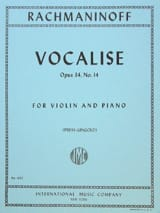 Vocalise op. 34 n° 14 - Violin RACHMANINOV Partition laflutedepan.com